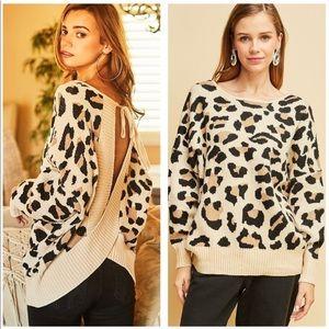 Sweaters - Leopard Print Sweater Top